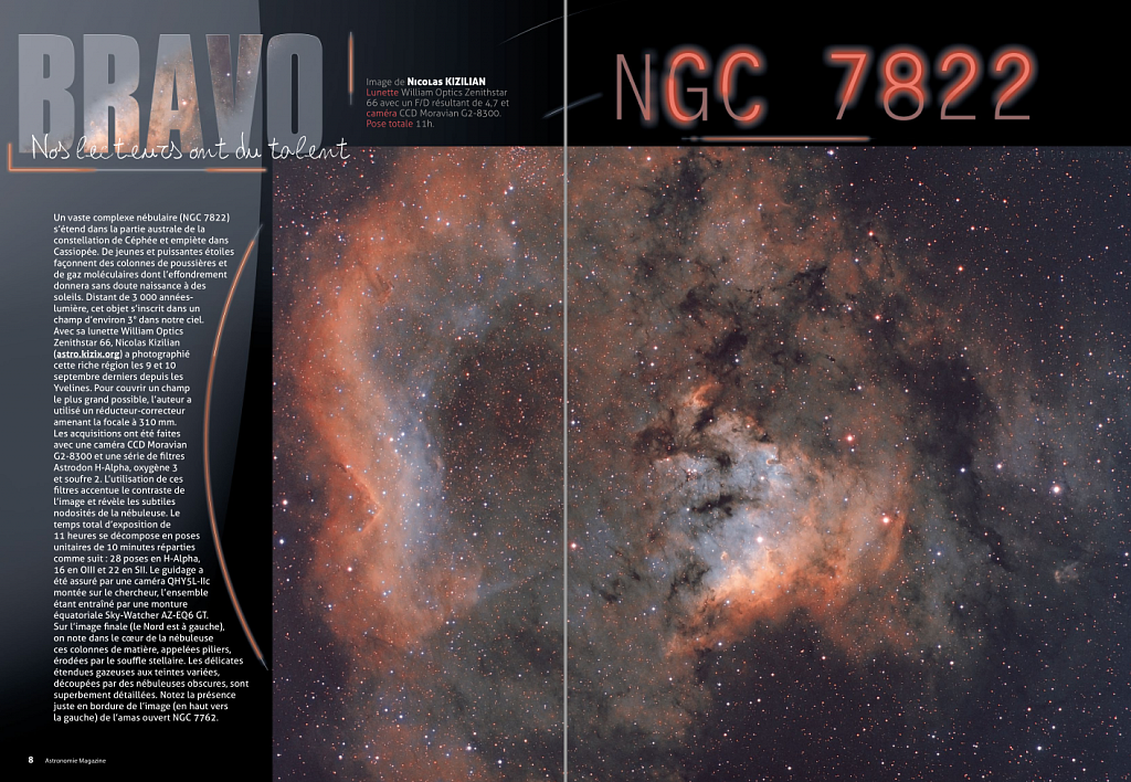 Astronomie Magazine, image of the month, November 2015
