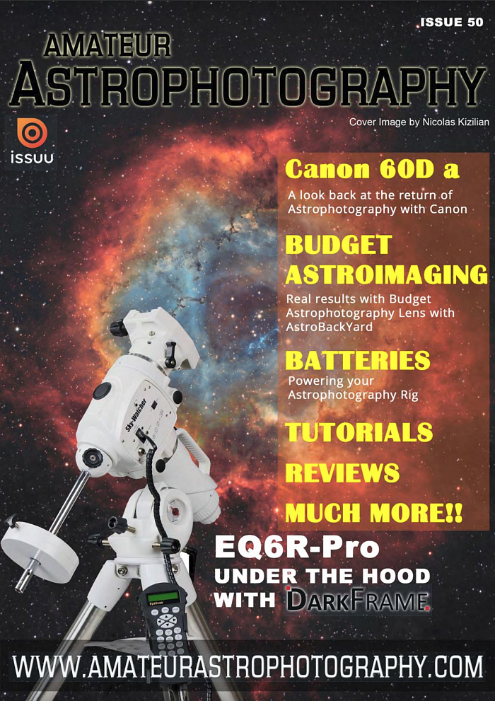 Cover image, Amateur Astrophotography Magazine n°50