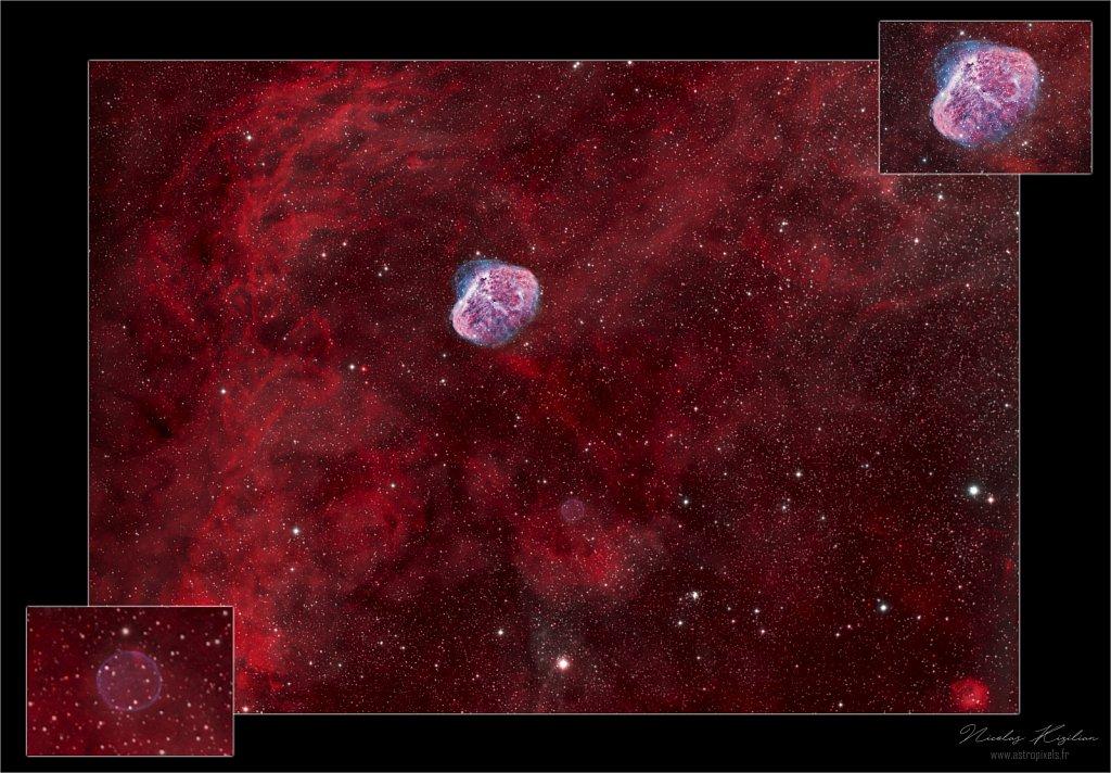 Crescent & Soap Bubble Nebulae