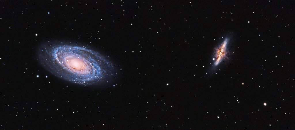 M81 & M82, Bode's Galaxy and Cigar Galaxy