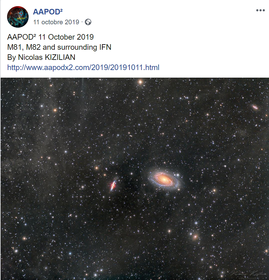 M81, M82 & IFN - AAPOD 11 October 2019