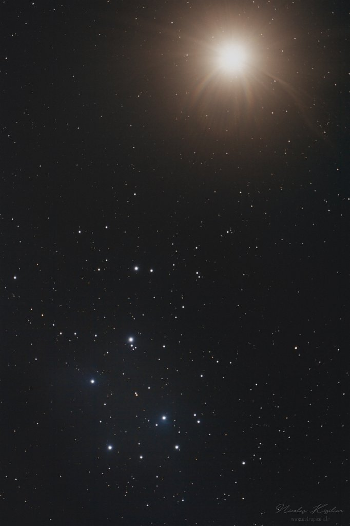 Venus and the Pleiades - 5th april 2020